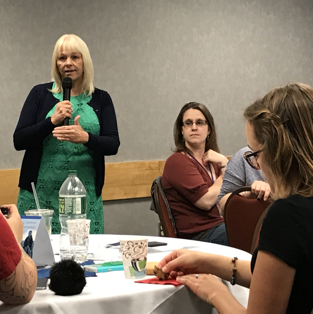 Donna Beegle leads a seminar in Augusta this week to teach officials, educators and service providers how to think and speak differently about poverty.