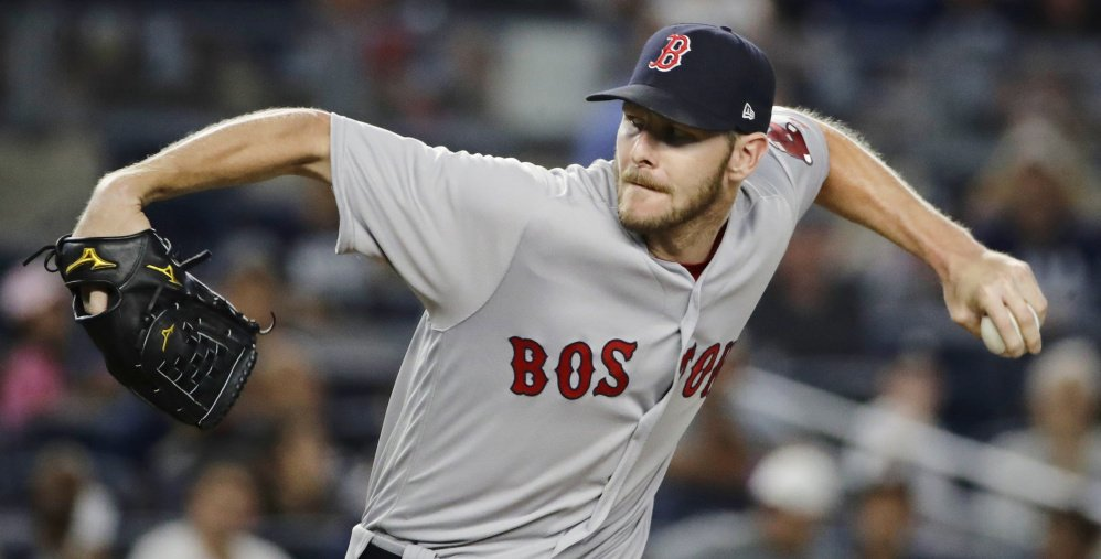 Chris Sale recorded his 16th double-digit strikeout game of the season Sunday night but wound up with a no-decision as the Red Sox and Yankees played into extra innings.