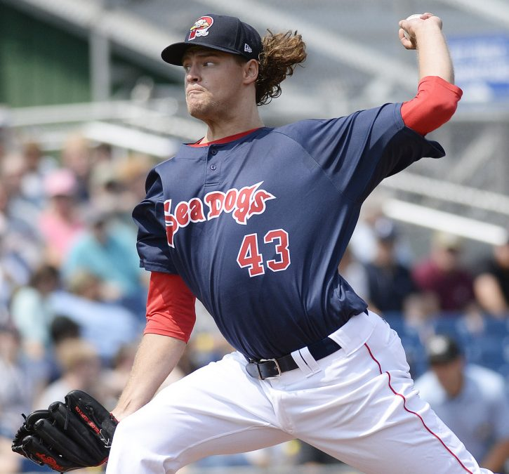 Trey Ball of the Portland Sea Dogs put the ball where he wanted and let his defense do the work Thursday, pitching seven shutout innings and showing the talent that made him a first-round draft pick.