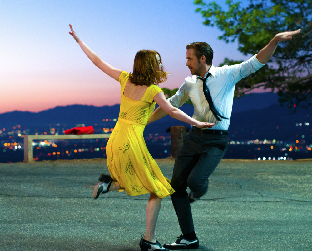 "Emma Stone and Ryan Gosling in ""La La Land,"" for which Justin Hurwitz, 32, won the Oscar for best film score."