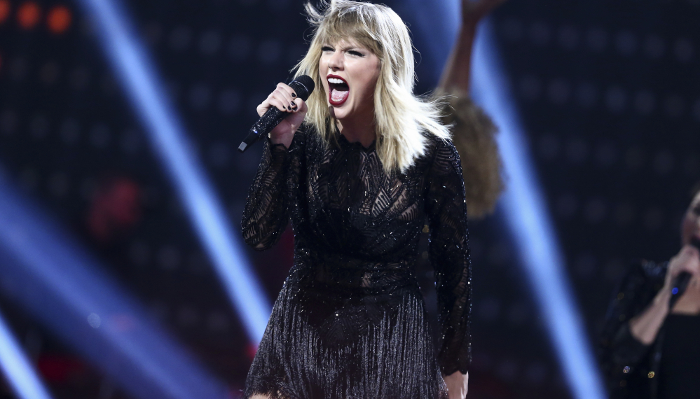 Taylor Swift performs at a concert in Houston, Texas. Swift's social media accounts went dark Friday, leading fans to speculate a new album would be forthcoming.