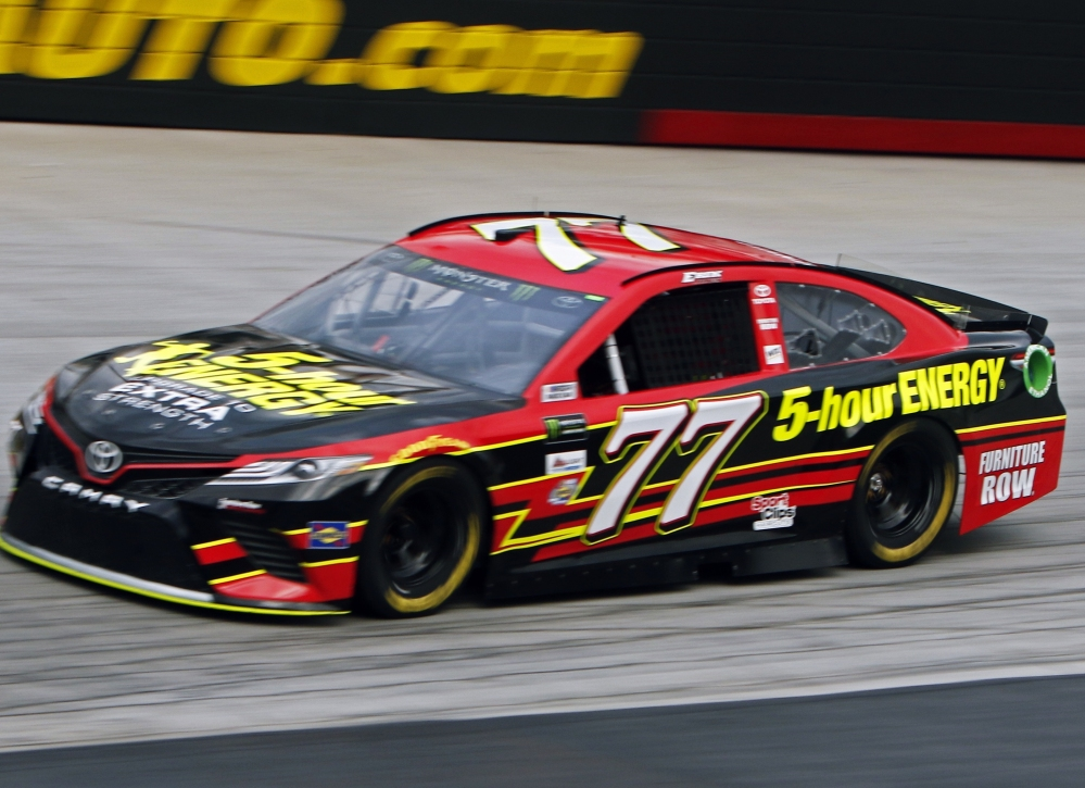 Erik Jones turned a best lap of 128.082 mph Friday to win the pole for the Cup Series race Saturday night at Bristol Motor Speedway.