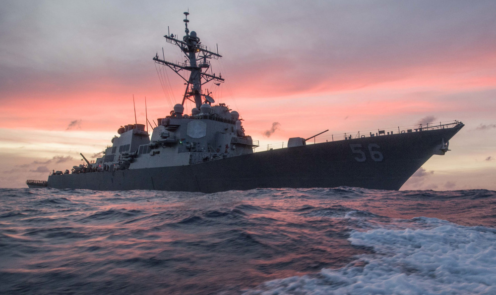 The USS John S. McCain was commissioned in Bath in 1994.