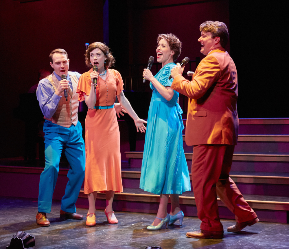 "Bryant Martin, Missy Dowse, Esther Stilwell and Curt Dale Clark in ""The All Night Strut."""