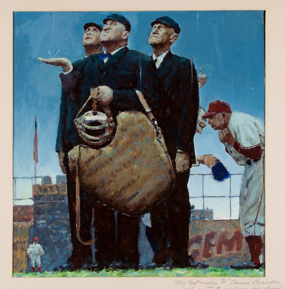 This rendering by Norman Rockwell was a preliminary work for Rockwell's