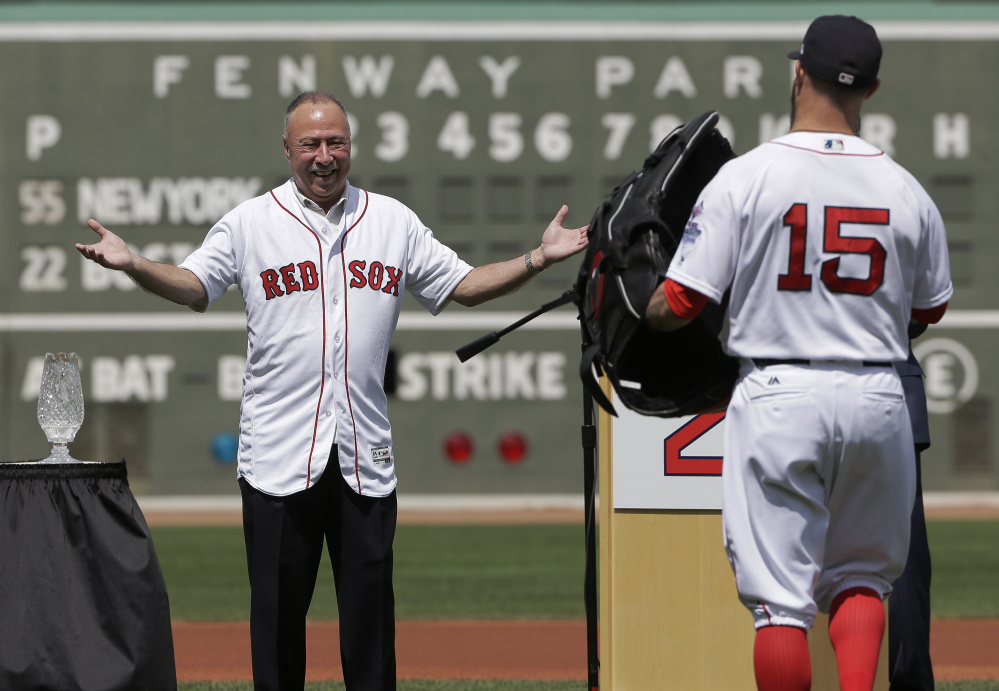 Jerry Remy, who begins cancer treatments Tuesday, was honored for his 30 years as a NESN broadcaster on Sunday.