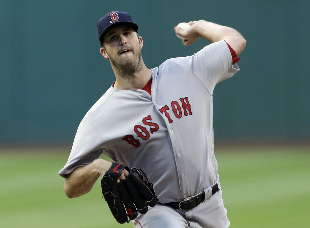 Red Sox starter Drew Pomeranz got his 13th win of the season, pitching into the sixth inning while shutting out Cleveland on just two hits.