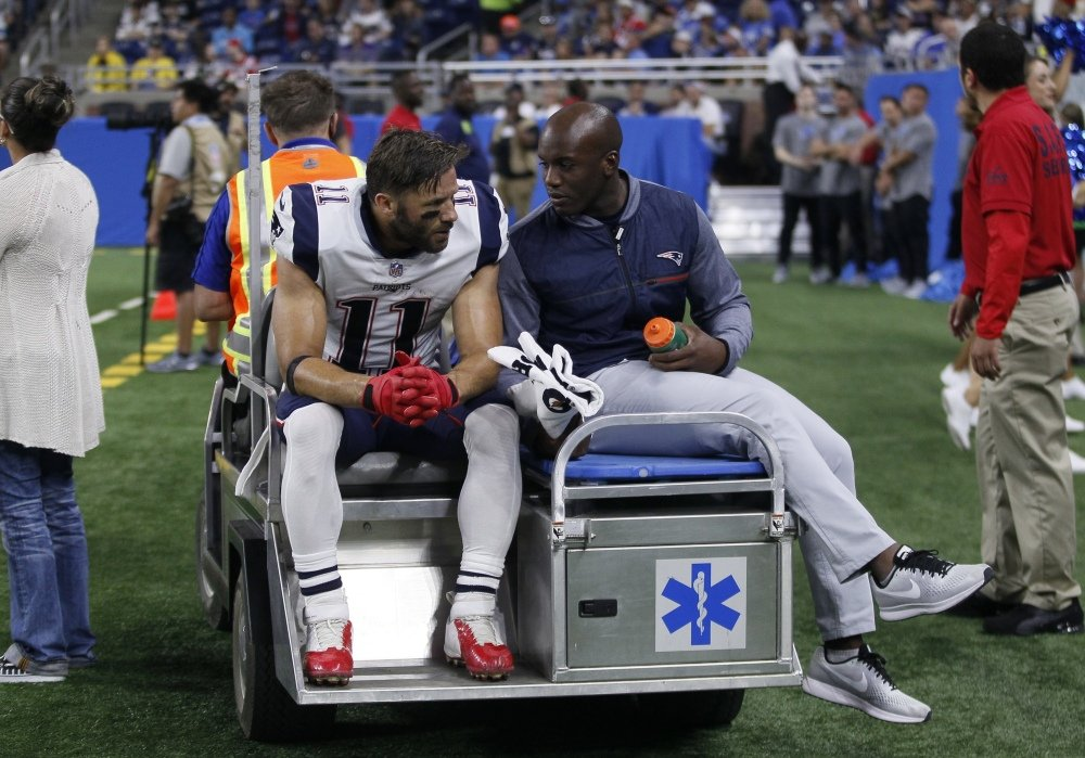 New England Patriots wide receiver Julian Edelman will reportedly miss the entire season after tearing the ACL in his right knee on Friday night.
