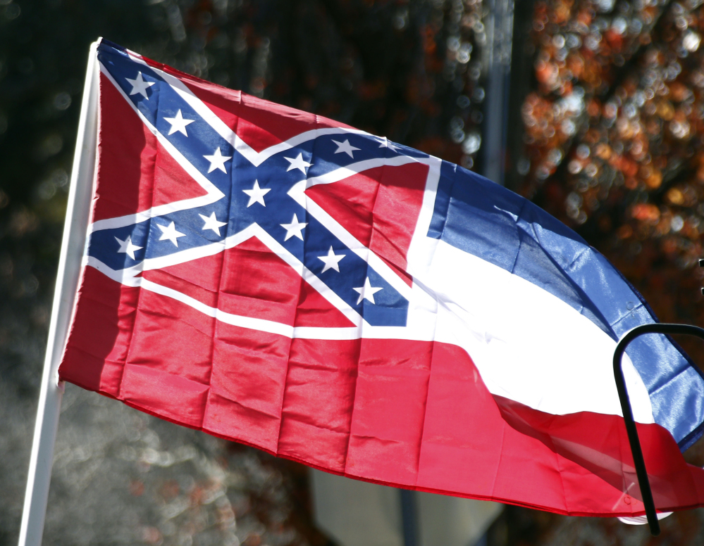 The design of the state flag of Mississippi was reaffirmed in a 2001 election. The governor says another election, not the courts, should determine if the flag stays.
