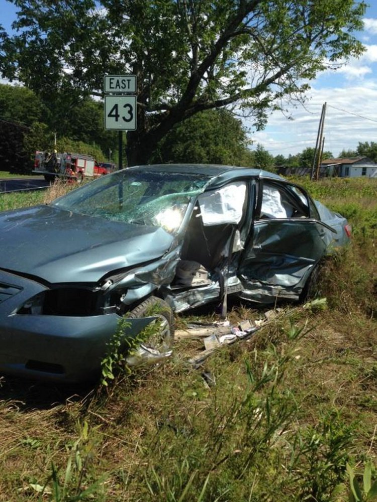 A woman was killed when a Ford Fusion collided with this Toyota Camry at the intersection of Square Road and Route 43 in St. Albans on Wednesday morning.