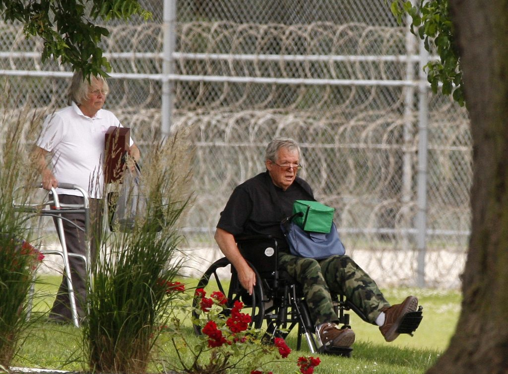 Former Speaker of the House Dennis Hastert reports to the Federal Medical Center in Rochester, Minn., on June 22, 2016, to begin serving a sentence in a hush money case. Federal Bureau of Prisons records list his release date as Wednesday.