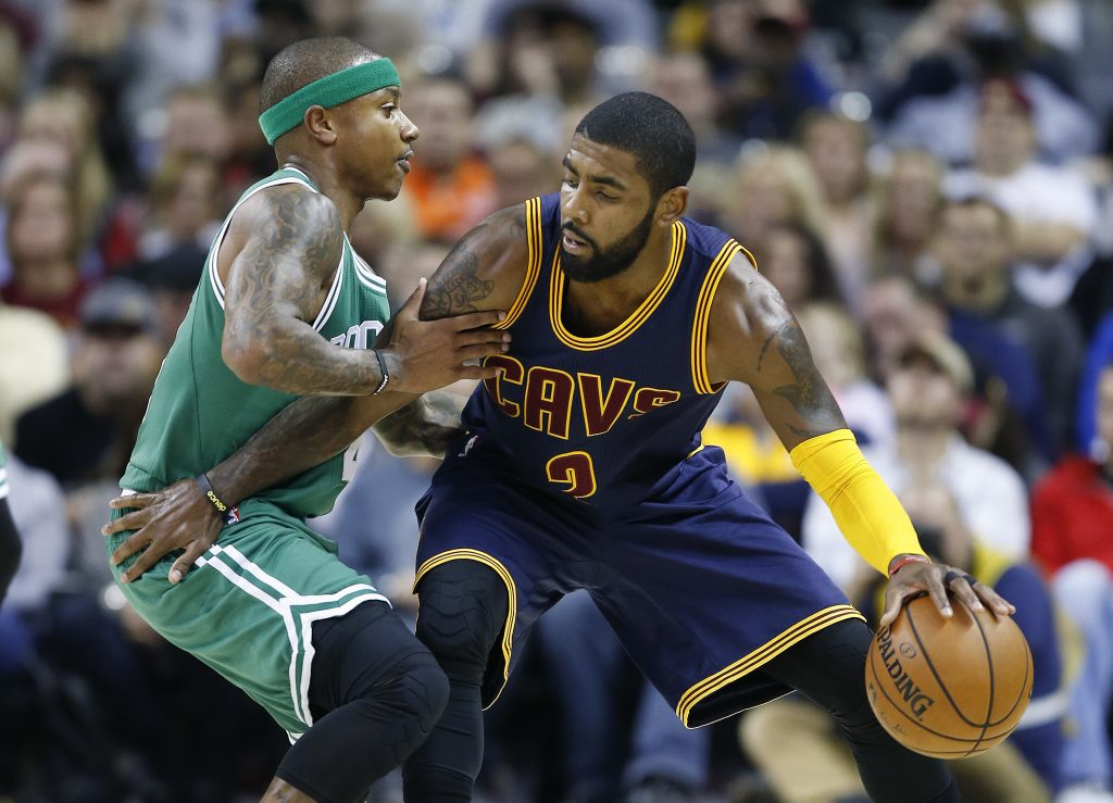 It could be the same story next season, Isaiah Thomas guarding Kyrie Irving. Except they would exchange uniforms in a trade that would work for both teams. Boston and Cleveland can't let the deal get away now.
