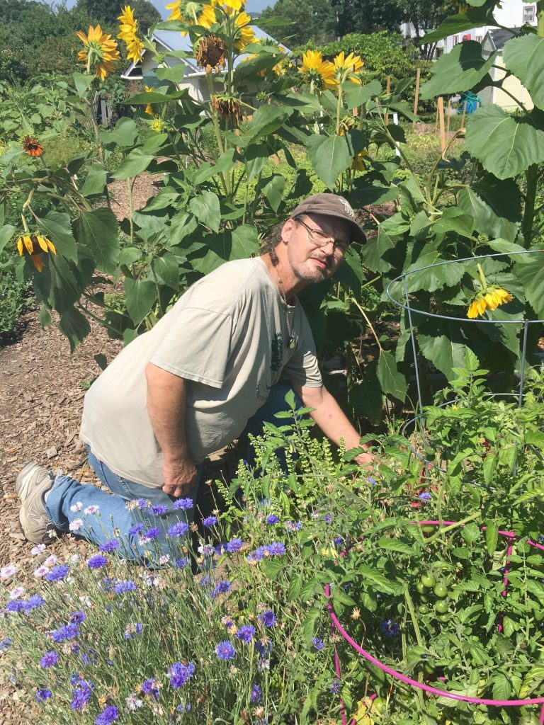 Kevin Wilson, who's been gardening at the Boyd Street Urban Farm for five years, gives most of what he grows to Kennedy Park neighbors.