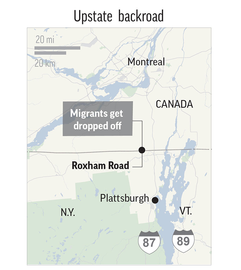 Migrants from US including Maine flood into Canada at small