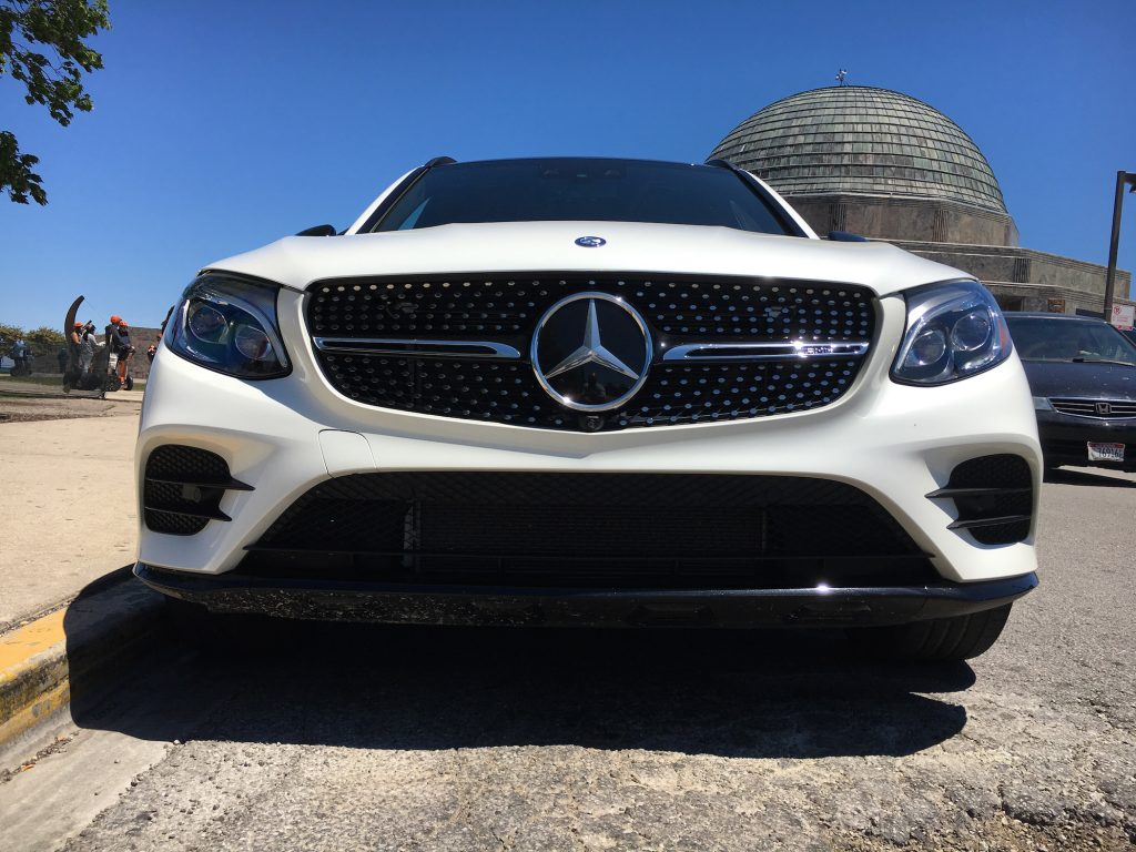 The 2017 Mercedes-AMG GLC43 is powered by a 3-liter biturbo V-6 engine and 9-speed automatic transmission to all wheels.