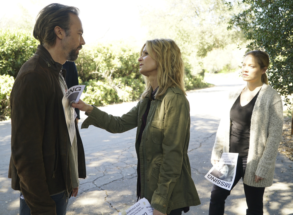 "Kick Gurry, Kyra Sedgwick and Erika Christensen in ""Ten Days in the Valley,"" premiering Oct. 1 on ABC."