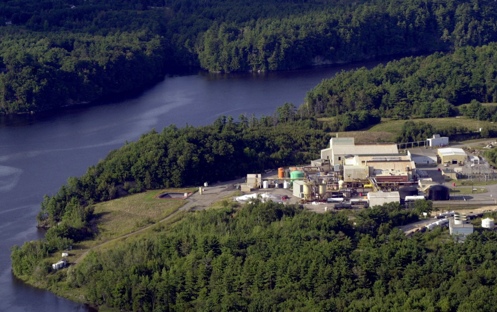 Mallinckrodt US LLC must clean up the HoltraChem Manufacturing Co. in Orrington, shown in 2000.