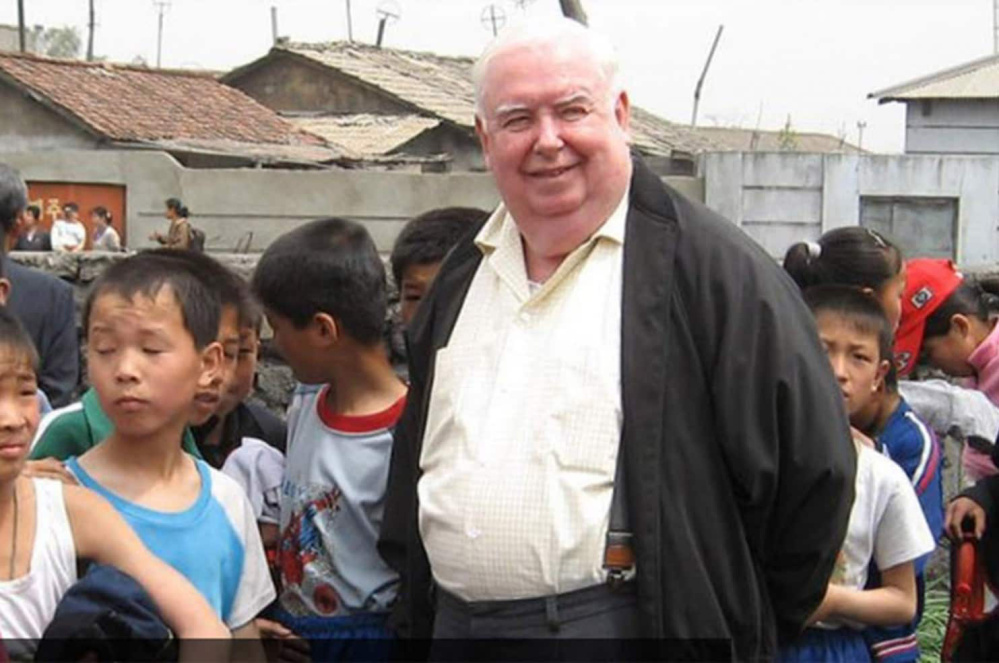 Catholic priest Gerard Hammond, 84, has worked with famine and tuberculosis victims in North Korea for 22 years. He fears he won't be able to go back to help those still suffering.