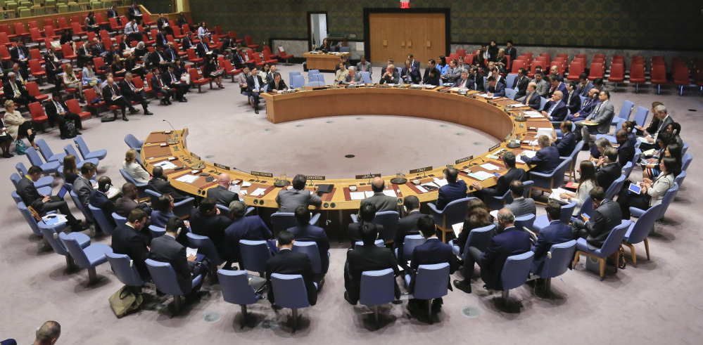 The United Nations Security Council meets on North Korea on Monday at the U.N. headquarters in New York. Diplomats were called into an emergency session despite the Labor Day holiday in the United States.