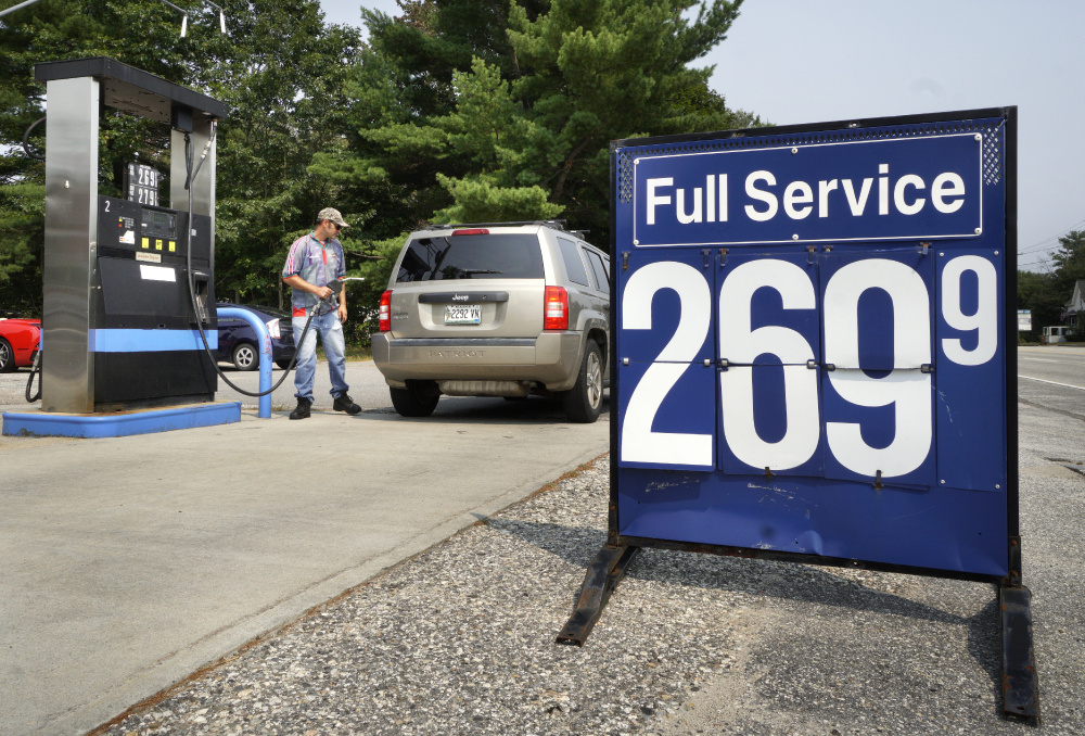 "At Rinaldi Energy in Saco, sales associate Dimitri Skinsacos said Tuesday that ""we do our best to keep (prices) as low as possible. But we're obligated to correlate with the market. We have no control over that."""