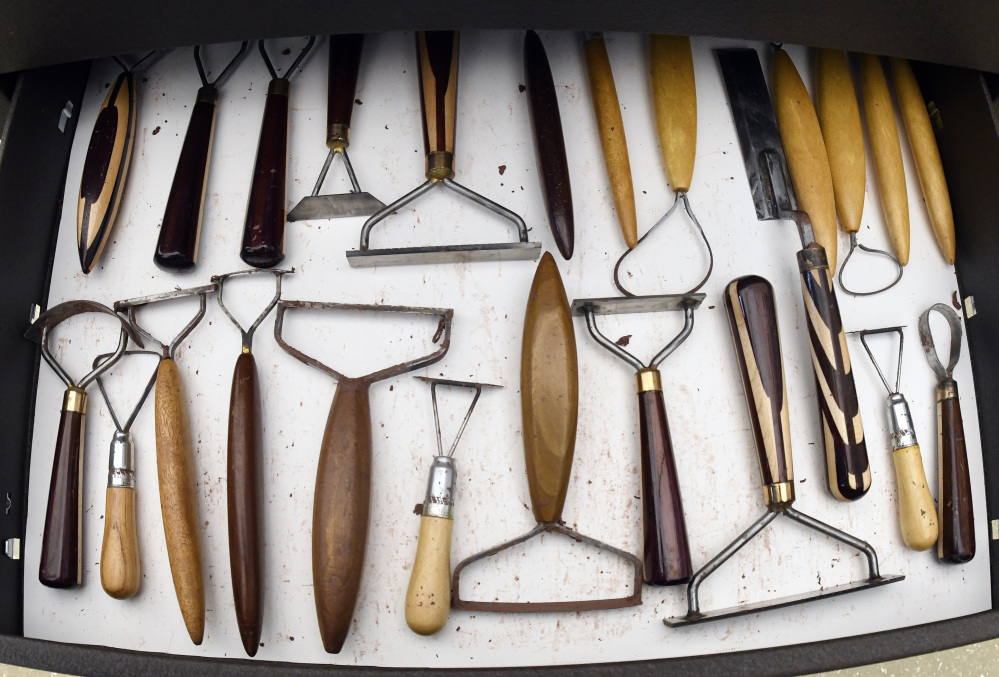 General Motors creative clay sculptor Paul Scicluna's array of tools he custom-made in order to design cars.