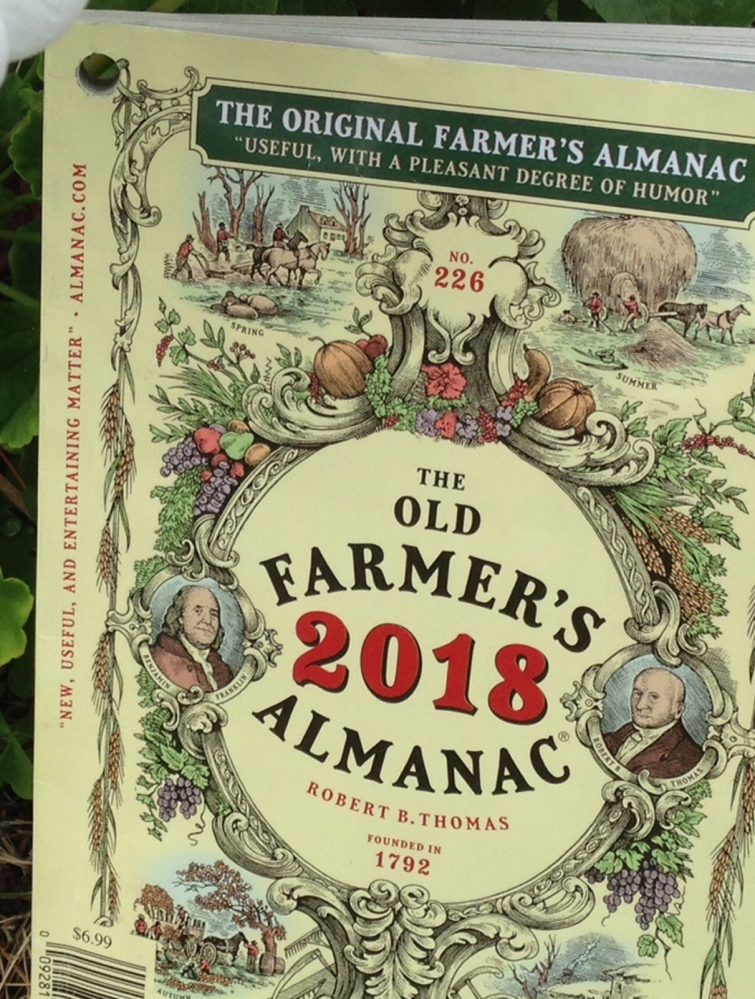 The 2018 edition of The Old Farmer's Almanac, shown in Concord, N.H., will come out next Tuesday.