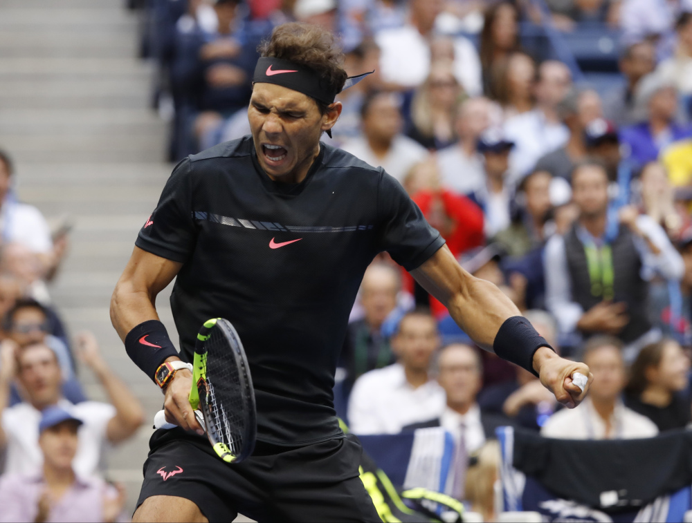Rafael Nadal won his third U.S. Open and the 16th Grand Slam of his career, beating Kevin Anderson 6-3, 6-3, 6-4 on Sunday in New York.