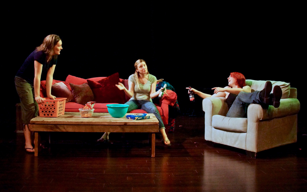 "Sarah Barlow, Anna Gravel and Aileen Andrews  as sisters Mel, Terry and Sam in ""Intervention."""