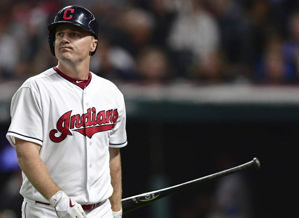 Jay Bruce of the Indians was the hero in the team's 22nd straight win on Thursday, but there was no comeback for Cleveland on Friday as the Royals ended the streak with a 4-3 road victory.