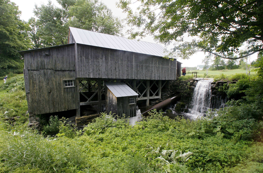 A Vermont group is working to repair the early 19th-century sawmill that continues to use water to spin its cutting blade.