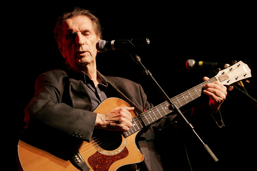 Harry Dean Stanton performs Sept. 9, 2006, at the 35th anniversary celebration of the founding of Greenpeace, in Los Angeles. The legendary character actor died Friday at age 91.