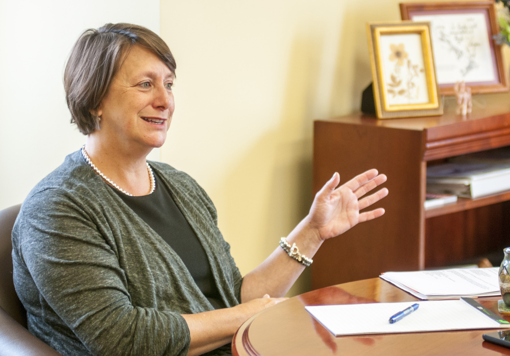 Rebecca Wyke, president of the University of Maine at Augusta, served for six months as the interim president in 2015. She's lived in Augusta for about 20 years.