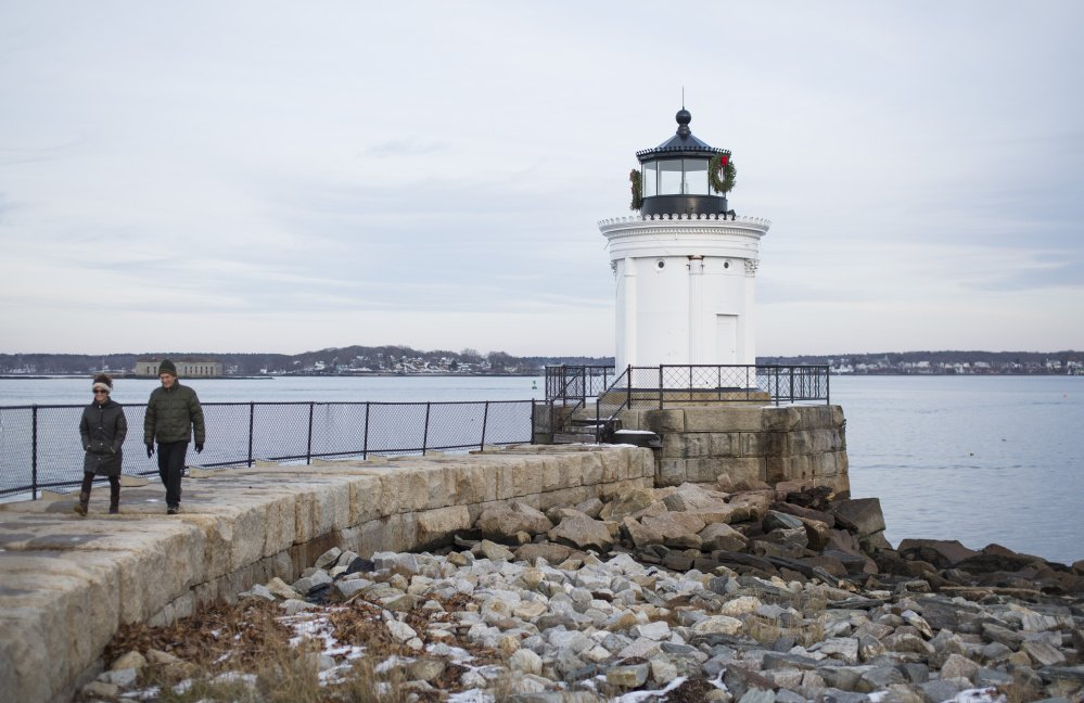 One of the amenities that make South Portland a good place to live is Bug Light Park, which has open green space and a historic lighthouse near the mouth of Portland Harbor.