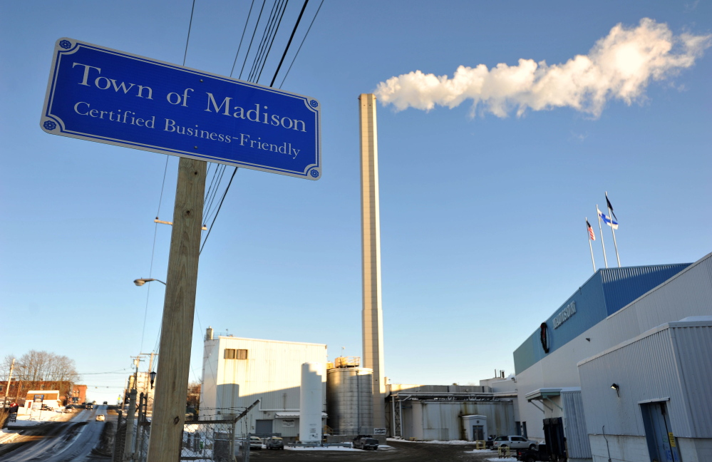 Madison Paper Industries, shown Jan. 13, 2015, ceased operations in May 2016.