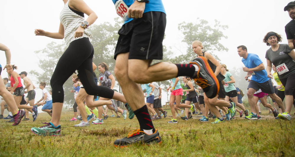 Running on trails, including the Mt. Agamenticus Trails Challenge, allows competitors to work a variety of leg muscles and not the same ones repeatedly, as on the roads.