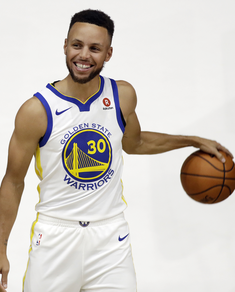 NBA champion Golden State Warriors' Stephen Curry.
