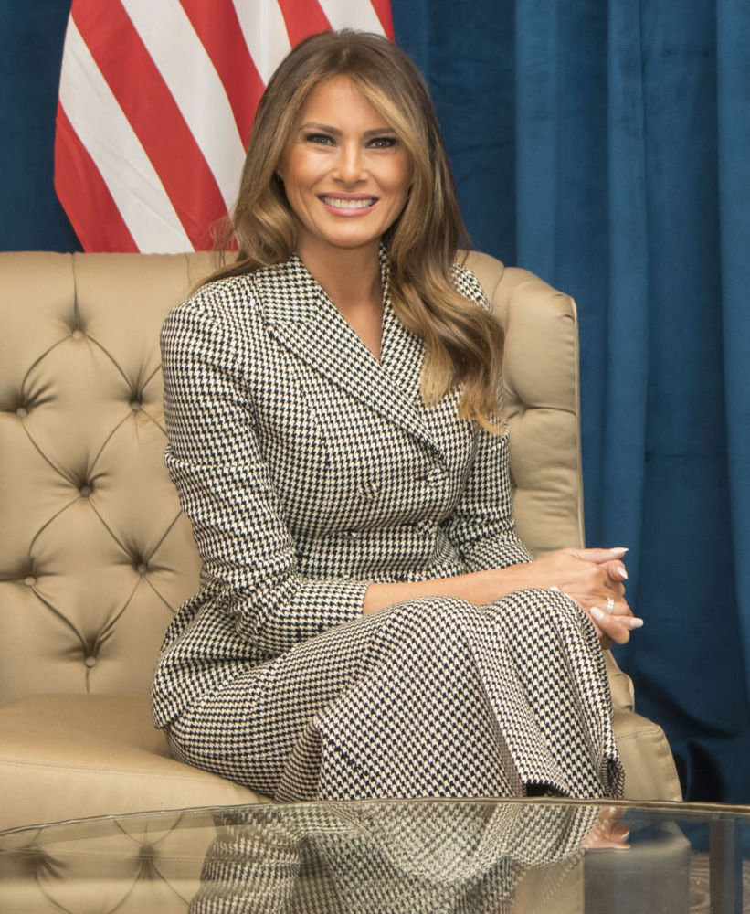 Melania Trump holds a bilateral meeting ahead of the 2017 Invictus Games in Toronto, Canada, Saturday.
