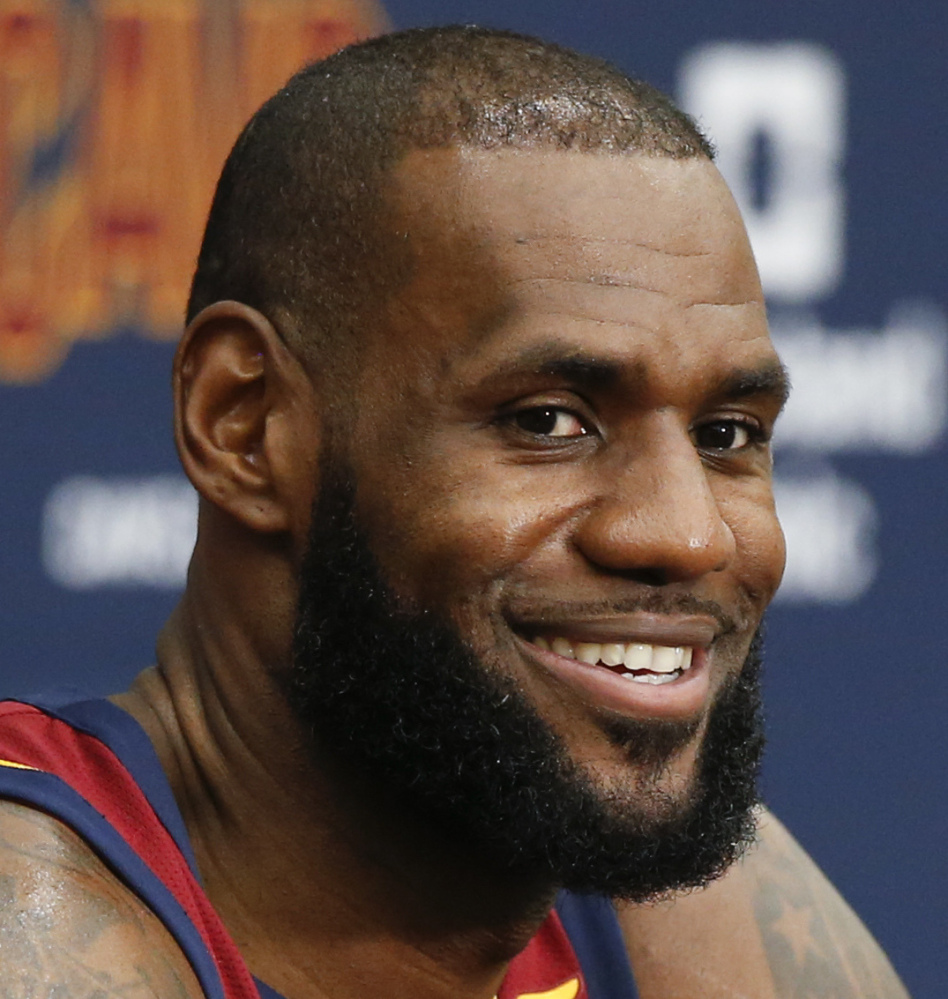 LeBron James criticized President Trump on Monday for his remarks about protests during the national anthem.