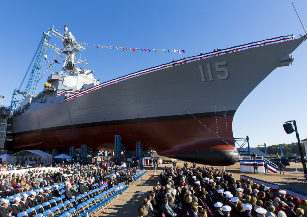 Bath Iron Works has a new contract for Arleigh Burke class destroyers, like the U.S.S. Rafael Peralta in 2015.