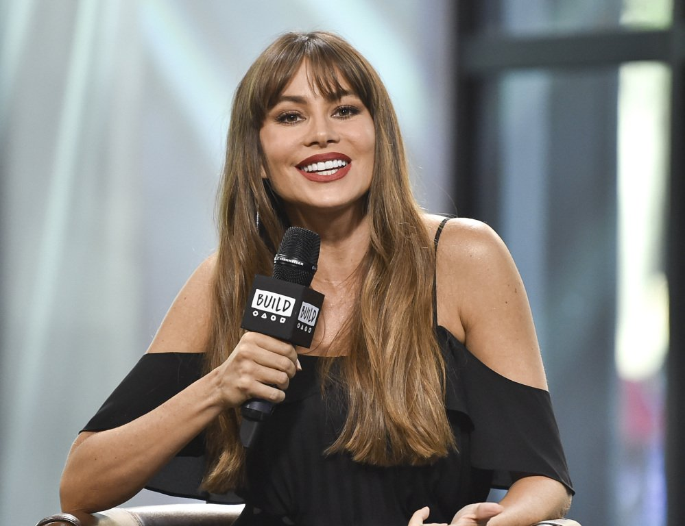 Actress Sofia Vergara discusses EBY, her new subscription underwear line, at AOL Studios in New York.