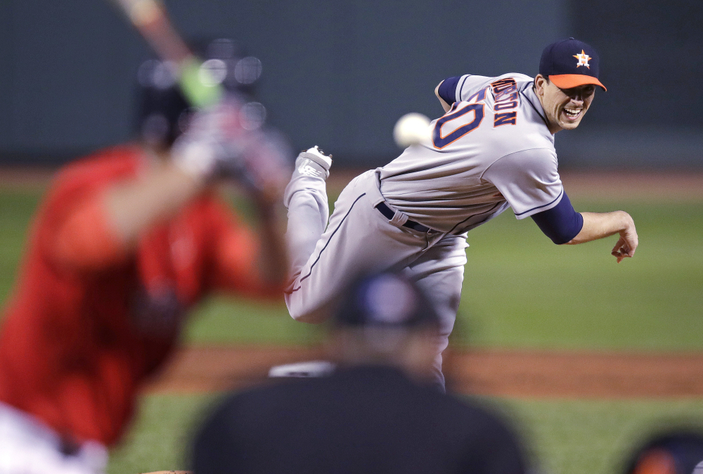 Houston starter Charlie Morton held the Red Sox down.