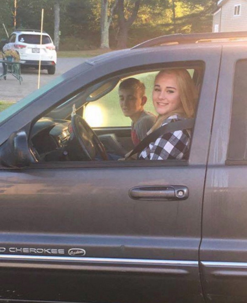 Tabytha Hembree, 16, and her brother Alex, 12, are shown in this photo taken shortly before they left for school Thursday. A short time later, both were seriously injured in an accident on Route 27 in Pittston, and Tabytha Hembree later died of her injuries.