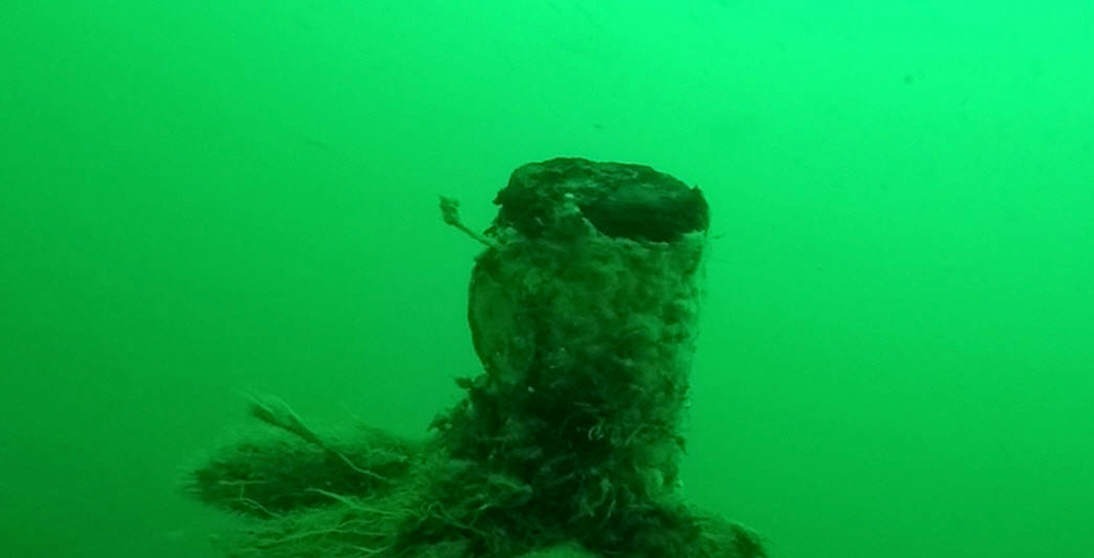 The well-preserved wreck of a World War I German submarine found off the Belgian coast.