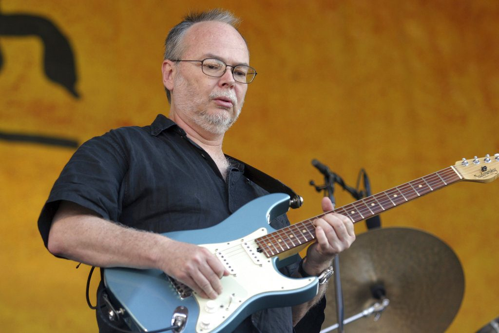 Walter Becker performs during the 2007 Jazz and Heritage Festival in New Orleans. The guitarist, bassist and co-founder of the rock group Steely Dan has died. He was 67. (AP Photo/Dave Martin, File)