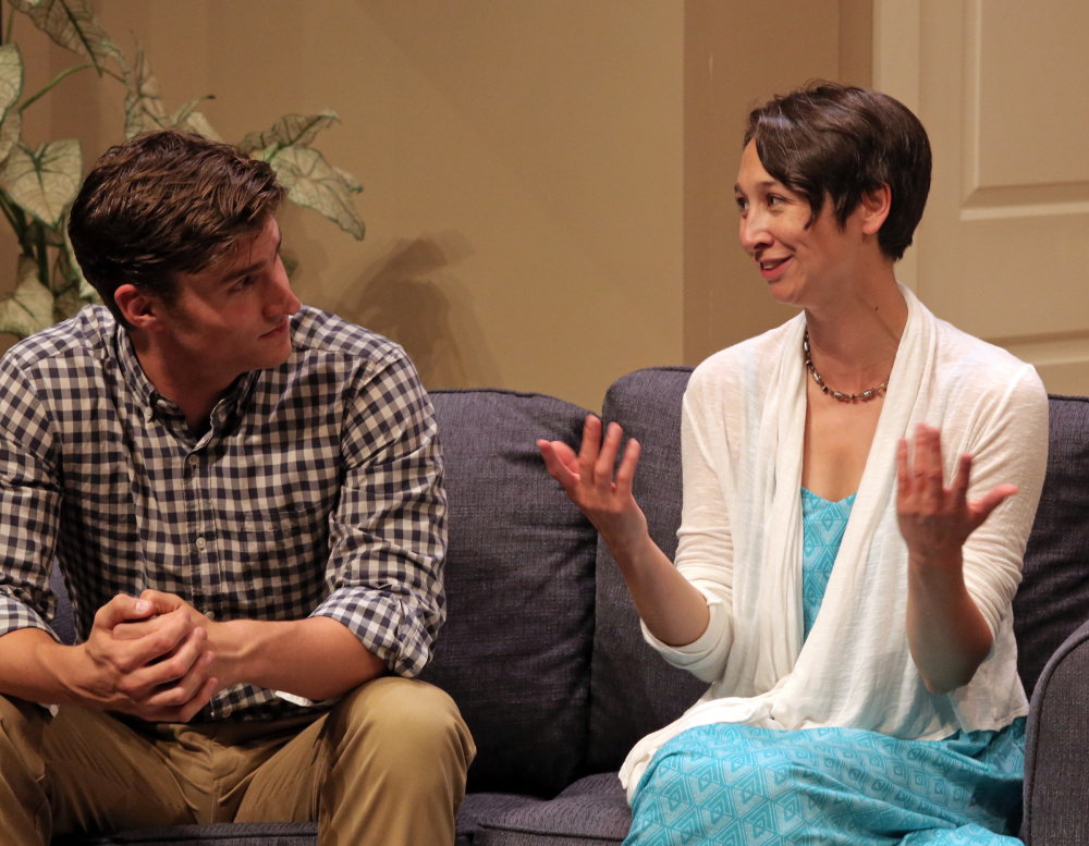 Marshall Taylor Thurman as Ethan and Amanda Painter as Olivia in the Good Theater's production of