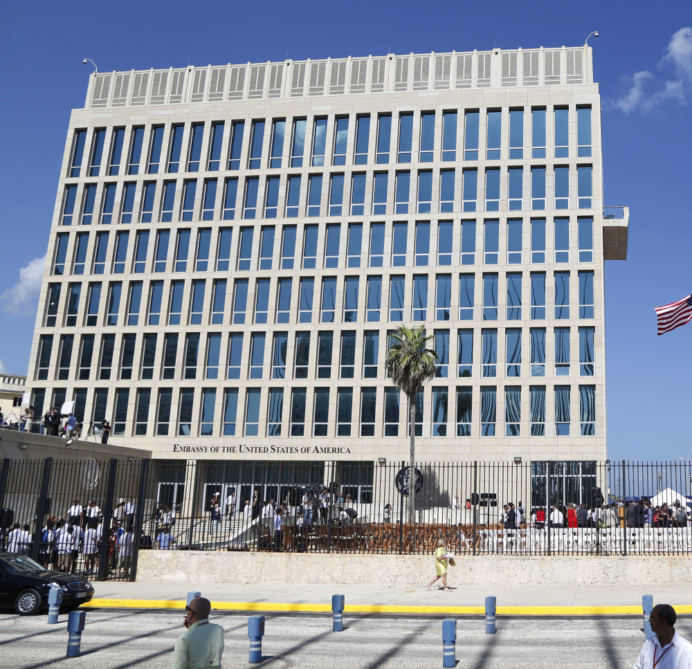 More than half the staff at the U.S. embassy in Havana, above, has been ordered to leave Cuba in the wake of mysterious attacks.