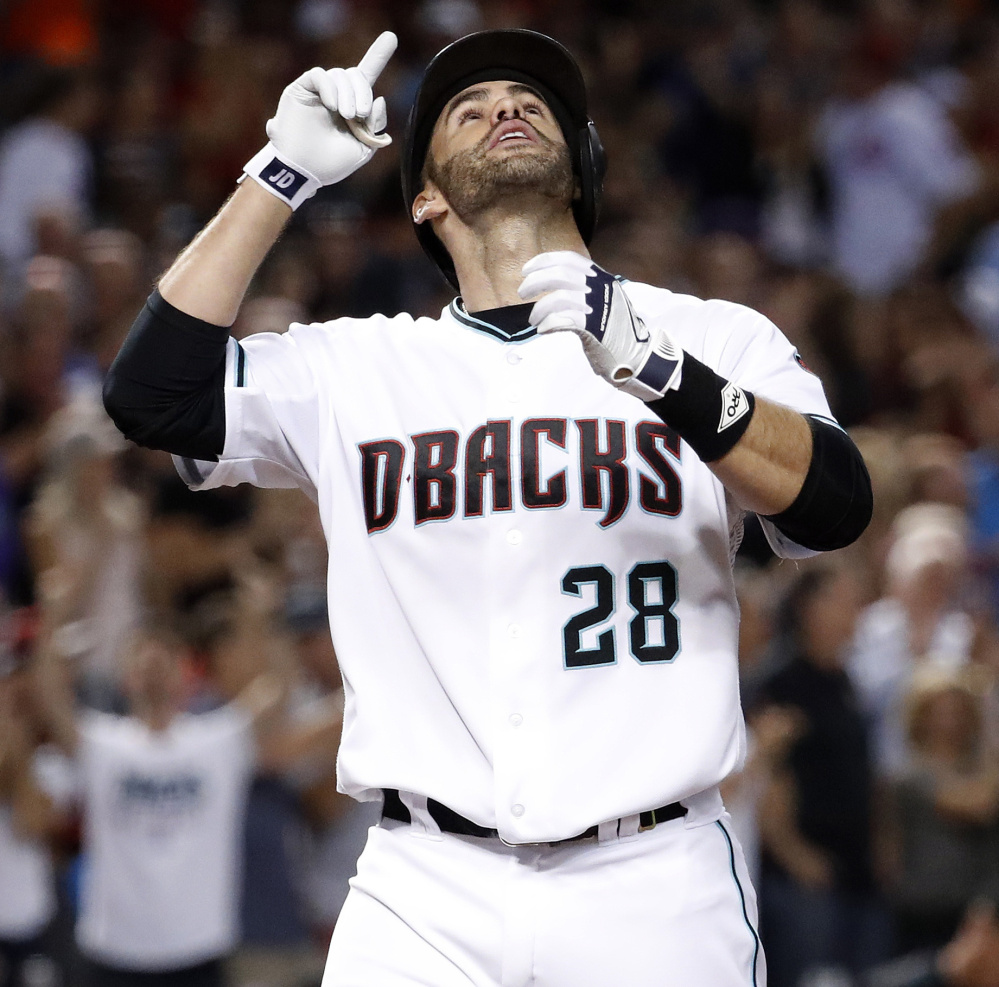 J.D. Martinez has been hot in September for the Arizona Diamondbacks, who acquired him from the Detroit Tigers before the trade deadline. In 24 games, he hit .404 with 16 home runs and 36 RBI.