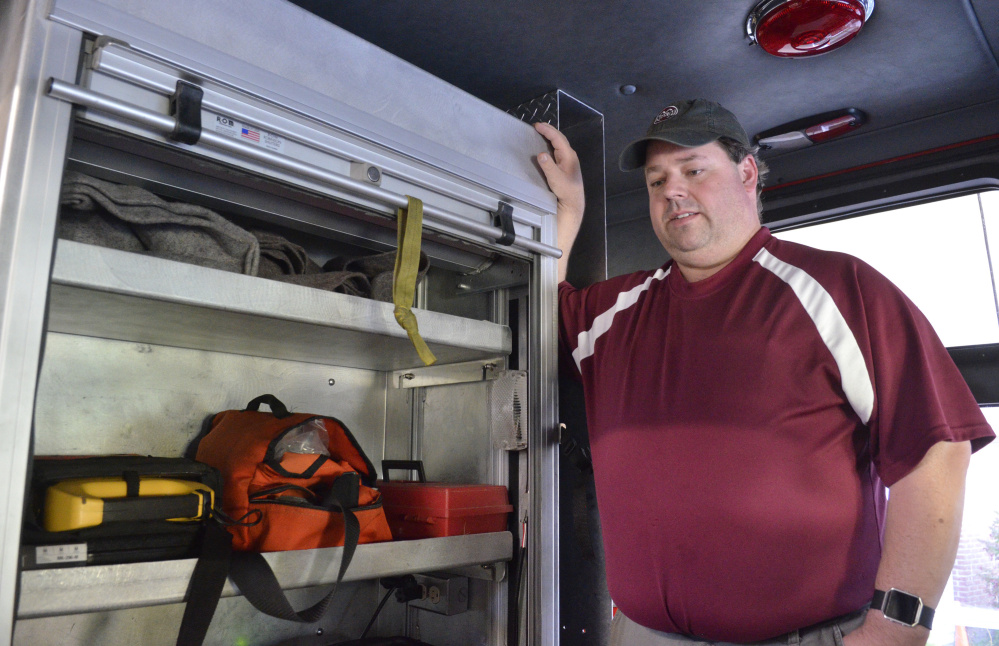 Richmond Fire Chief Matt Roberge lauds the EMS provided by Gardiner Ambulance, but wants his own crew to be able to extend more than basic first aid and CPR.
