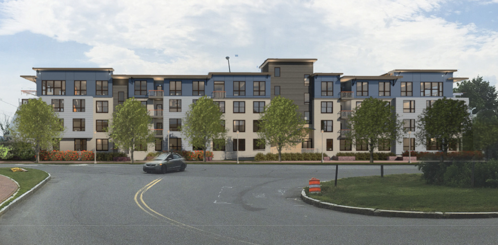 """I think we're at the finish line,"" says a South Portland developer of the proposed condos, shown in a rendering."