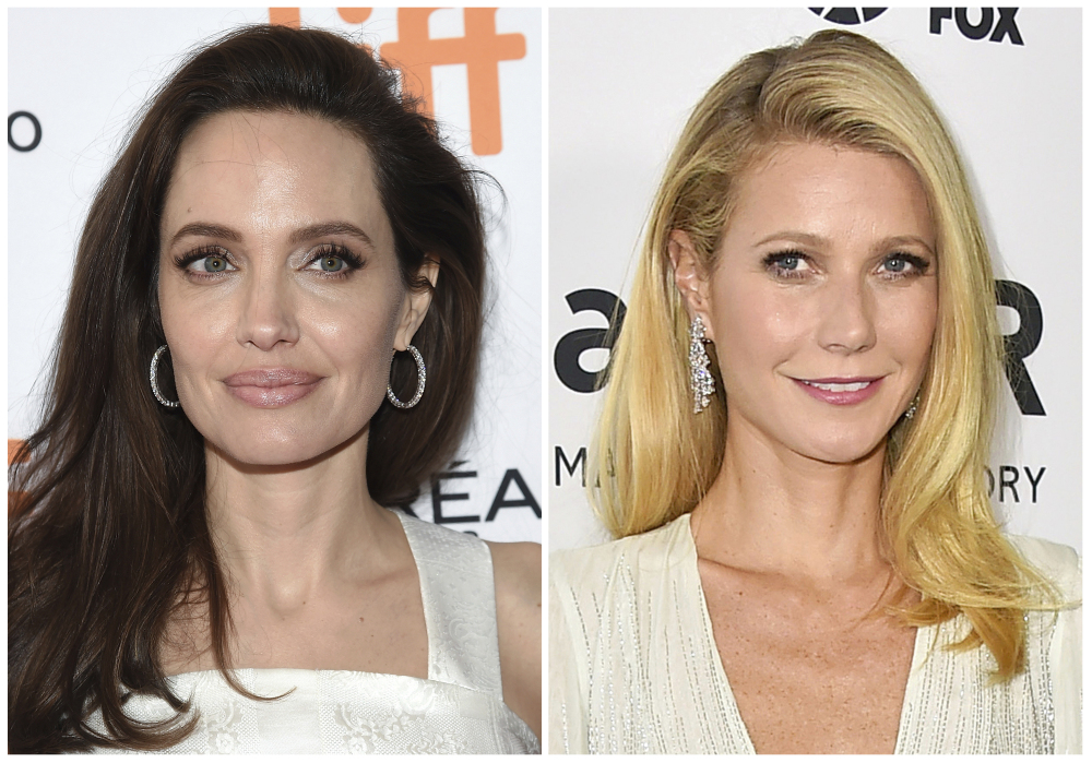 Actresses Angelina Jolie, left, and Gwyneth Paltrow describe encounters with movie producer Harvey Weinstein that further intensify his already explosive collapse in the wake of sexual harassment and assault allegations.